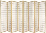 8 panel shoji divider - Legacy Decor 8 Panel Japanese Oriental Style Room Screen Divider Natural Color