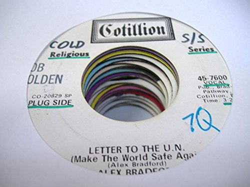 Price comparison product image ALEX BRADFORD 45 RPM Letter to The U.N. (Make the World Safe Again) / Sunday Mo'Nin'