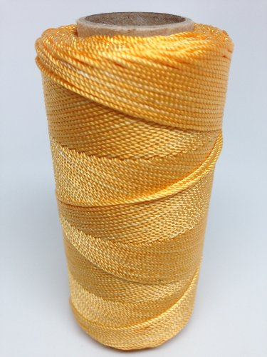 (Rosary Twine #9 (1.07 mm) - SGT KNOTS - 3 Strand Twisted Nylon Crafting Twine Made for Rosaries - Easy to Work With, Soft, Even Consistency, Holds Knots - for Classes, Crafts, DIY (500 ft - Yellow))