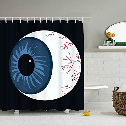 PQFLICS Inspirational Pictures Halloween Eyeball Fabric Polyester Waterproof Shower Curtain-Bathroom -