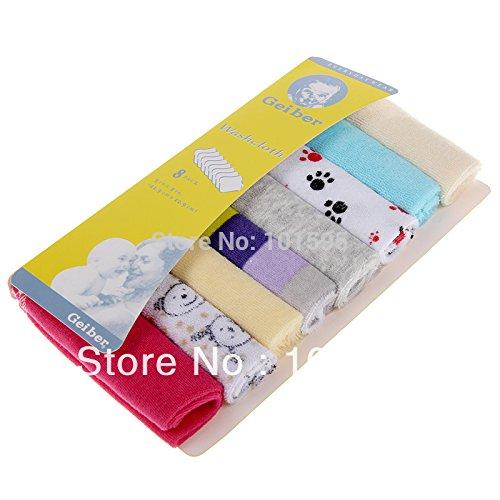 Buildent 8pcs/lot baby's towels baby bibs infantfeeding