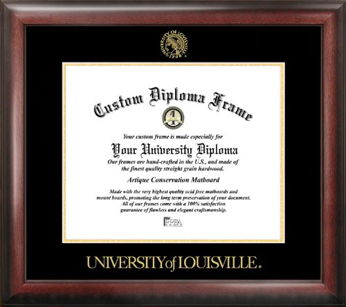 Campus Images ''University of Louisville Embossed Diploma'' Frame, 14'' x 17'', Gold