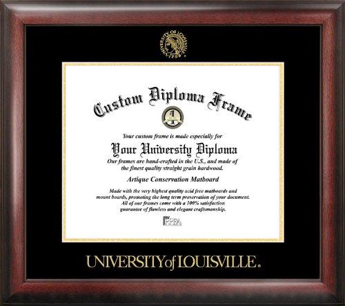 University of Louisville Gold Embossed Diploma Frame