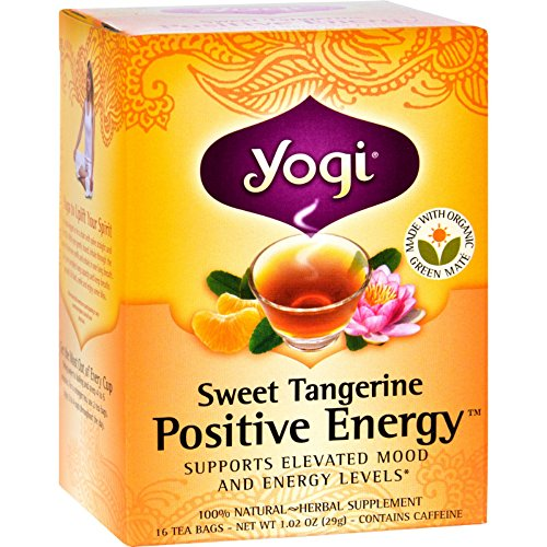 - Yogi Positive Energy Herbal Tea Sweet Tangerine - 16 Tea Bags - Case Of 6
