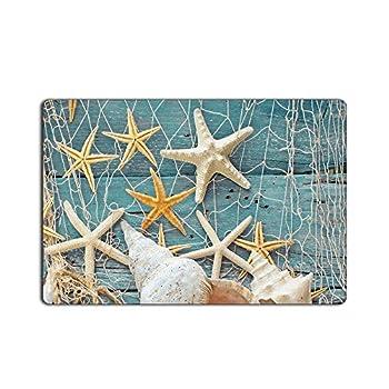 CHARMHOME Conch Shell Starfish Doormat 23.6(L) x 15.7(W)