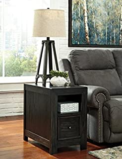 Attirant Ashley Furniture Signature Design   Gavelston Chair Side/End Table, Rubbed  Black