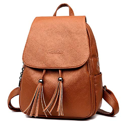 Marron au porté Backpack Goooodtrry pour Marron Dos à Goooodtrry Femme Sac Marron Main H1w1qFx7PS