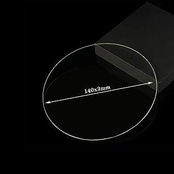 Placa de cristal de borosilicato redonda de 140 mm x 3 mm ...