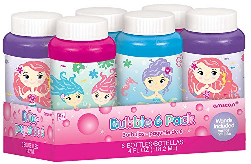 (Amscan Mermaid Bubbles | Party Favor | 6)