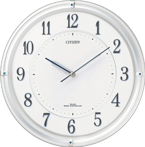 CITIZEN (シチズン) 電波ソーラー掛時計 すっきりとした白文字板のソーラー発電タイプ サイレントソーラーM817 4MY817-003 4MY817-003 B005UVALN0