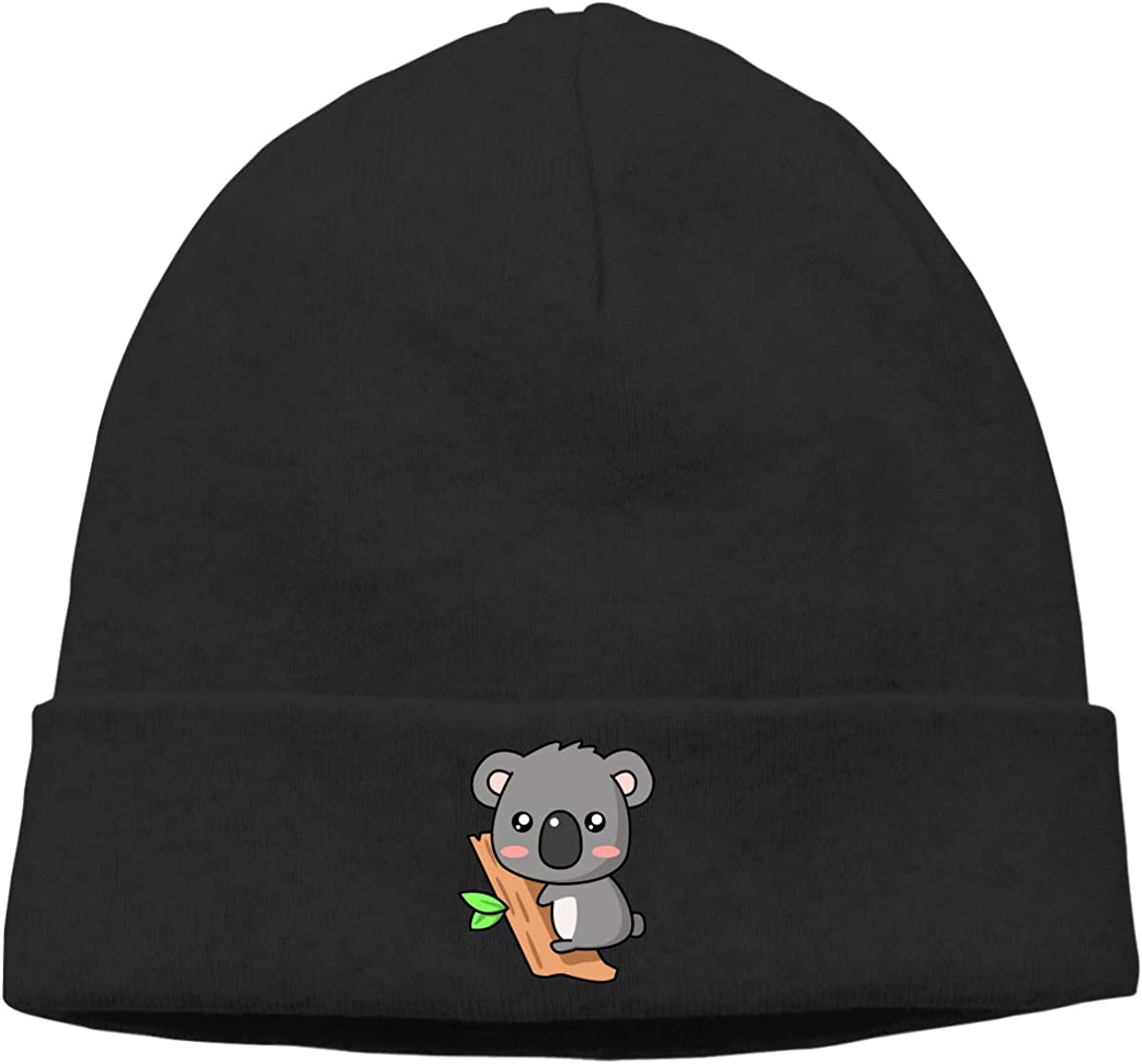 Cute Koala Cap Unisex Cuffed Deliciously Soft Daily Plain Skull Ski Slouchy Hat