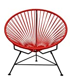 Cheap Innit Designs Innit Chair, Red Weave on Black Frame