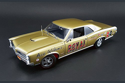 NEW 1:18 ACME LIMITED EDITION COLLECTION - GOLD 1966 PONTIAC GTO ACE WILSON'S ROYAL TIGER DRAG CAR Diecast Model Car By ACME (1 18 Scale Diecast Drag Racing Cars)