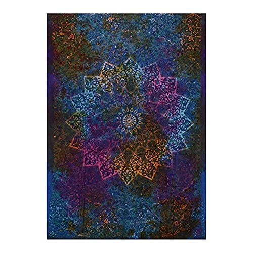 Twin Blue Tie Dye Bohemian Tapestry Elephant Star Mandala Tapestry Tapestry  Wall Hanging Boho Tapestry Hippie Hippy Tapestry Beach Coverlet Curtain  (Blue)