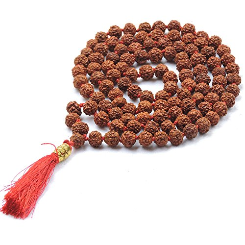 (HealthGoodsIn - Meditation (Japa) Rudraksha Mala with 108 + 1 Beads (8-9 mm Sized Beads) - Pack of 1 Mala)