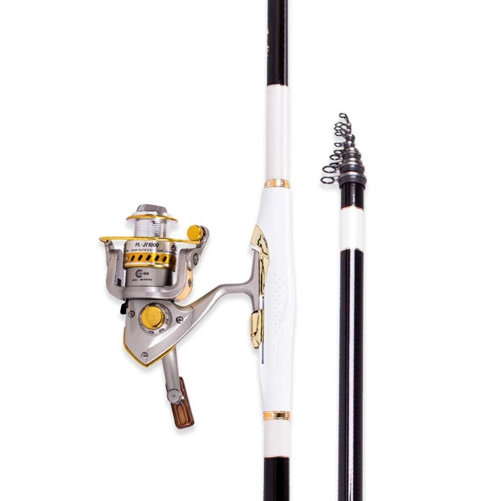 釣り竿 - 超軽量スーパーハードカーボンフルウォーターフィッシングホイールセットロングショット滑り止めグリップフィッシングギア(より難しい) (サイズ さいず : 4.5m) 4.5m  B07Q7TD5JF