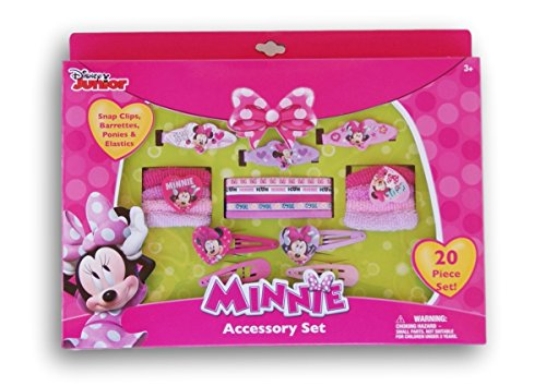 Minnie Mouse 20 Piece Hair and Accessory (Minnie Mouse Hair Clips)