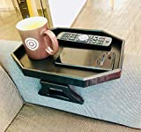 Blackcat Sofa Arm Clip Table, Armrest Tray Table, Drinks/Remote Control/Snacks Holder(Black)