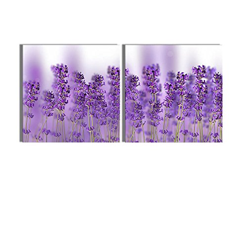 Close up Photo of Lavender Wall Decor ation x 2 Panels