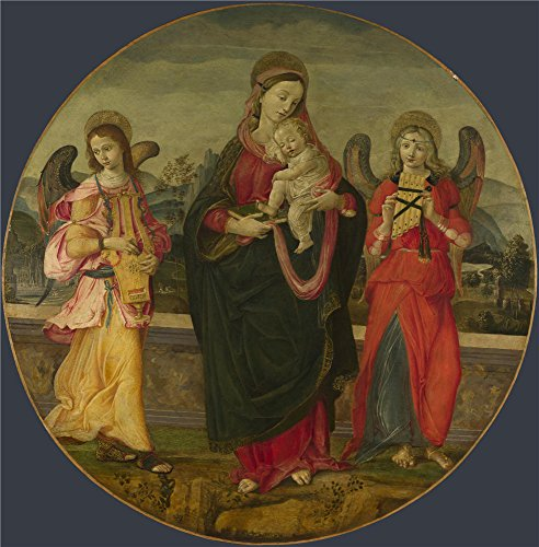 ['Workshop Of Raffaellino Del Garbo The Virgin And Child With Two Angels ' Oil Painting, 20 X 20 Inch / 51 X 52 Cm ,printed On Perfect Effect Canvas ,this Reproductions Art Decorative Prints On Canvas Is Perfectly Suitalbe For Powder Room Artwork And Home Gallery Art And] (Sub Zero Costume Child)