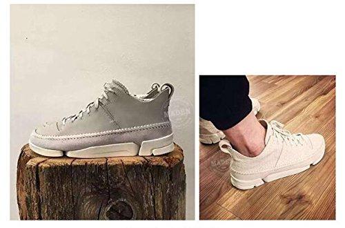 ... Happyshop Tm Menns Ekte Skinn Anti-slip Walking Sko Fritids Sko  Joggesko Gym Sko (