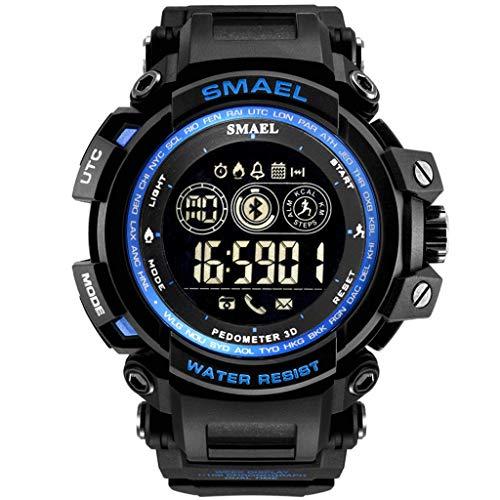 (IAMUP SMAEL Fashion Men's Smart Watch Popular Bluetooth Digital Sports Wrist Watch Waterproof)