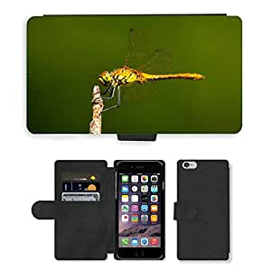 Super Stella Cell Phone Card Slot PU Leather Wallet Case // M00146611 Dragonfly Insect Wing Wildlife Bug // Apple iPhone 6 4.7""