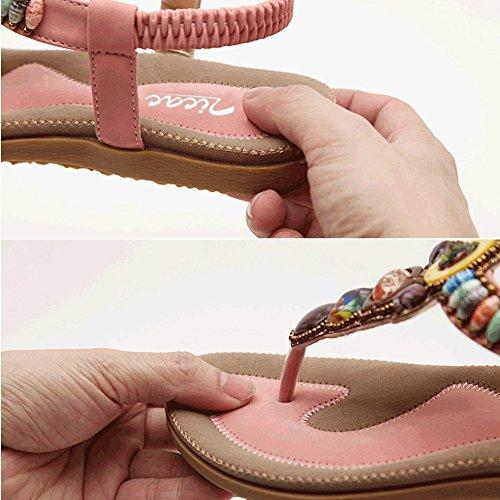 Rosa Zapatos mujer tacón con Zicac nBItHUWqtx