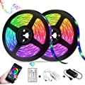 LED Strip Lights,Reemeer RGB Strip Lights Kit 32.8ft/10M SMD5050 Color Changing LED Tape Lights with Remote APP Control Sync to Music Apply LED Strip for Bedroom Kitchen Party(2-Pack)