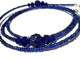ATLanyards Royal Blue Beaded Eyeglass Holder - Blue Beaded Eyeglass Support
