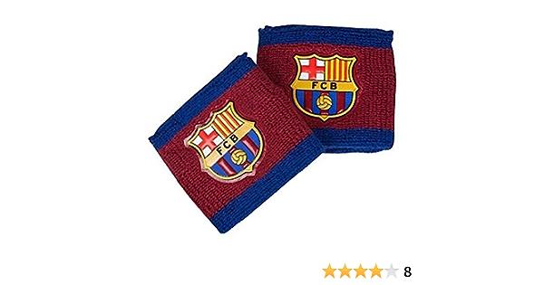 Pack Of 2 SG7074 FC Barcelona Official Football Crest Sport Wristbands