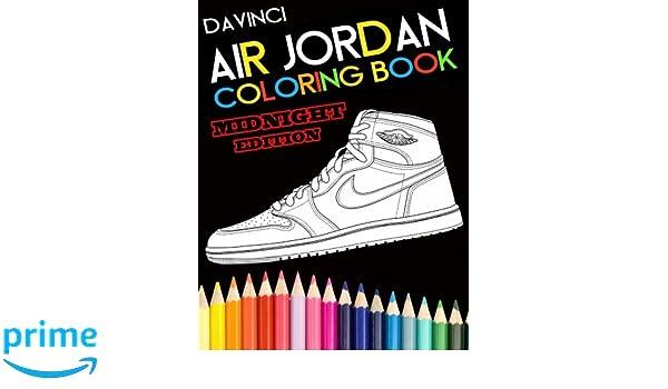 best authentic cc050 ea270 ... Air Jordan Coloring Book Midnight Edition Davinci 9780998683102  Amazon.com ...