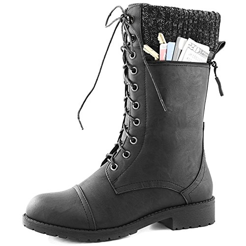 Simple LADIES WOMENS MILITARY BOOTS ARMY COMBAT ANKLE LACE UP FLAT BIKER ZIP SIZES 3-8 | EBay
