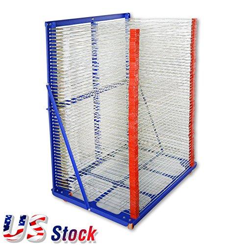 US Stock - 50 Layers Screen Printing Drying Rack 900mm x 650