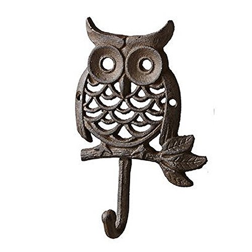Cast Iron Owl Vintage Wall Hook