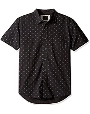 Men's Everyday Mini Motif Short Sleeve Woven Top