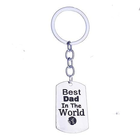 Hacoly Regalo del Padre Keychain Keyring Regalo del Día del ...