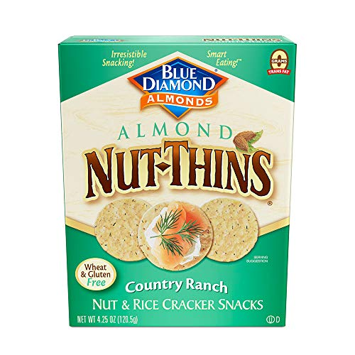 Blue Diamond Almonds, Country Ranch Nut Thin Crackers, 4.25oz