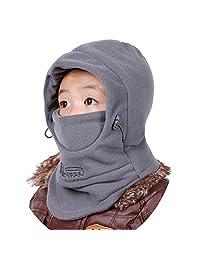 Azarxis Kids Fleece Balaclava Ski Face Mask Windproof Thicken Winter Hat Neck Warmer