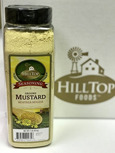 Hilltop Foods Natural Ground Mustard-Seasoning Spices 1 Lb. Container