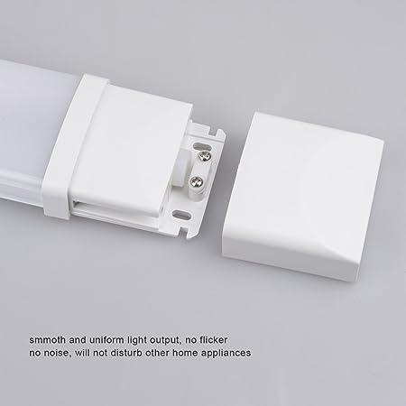 J&C® IP65 36W 120cm Regleta fluorescentes estanca de luz compacta LED lámpara perfil bajo 1500Lm