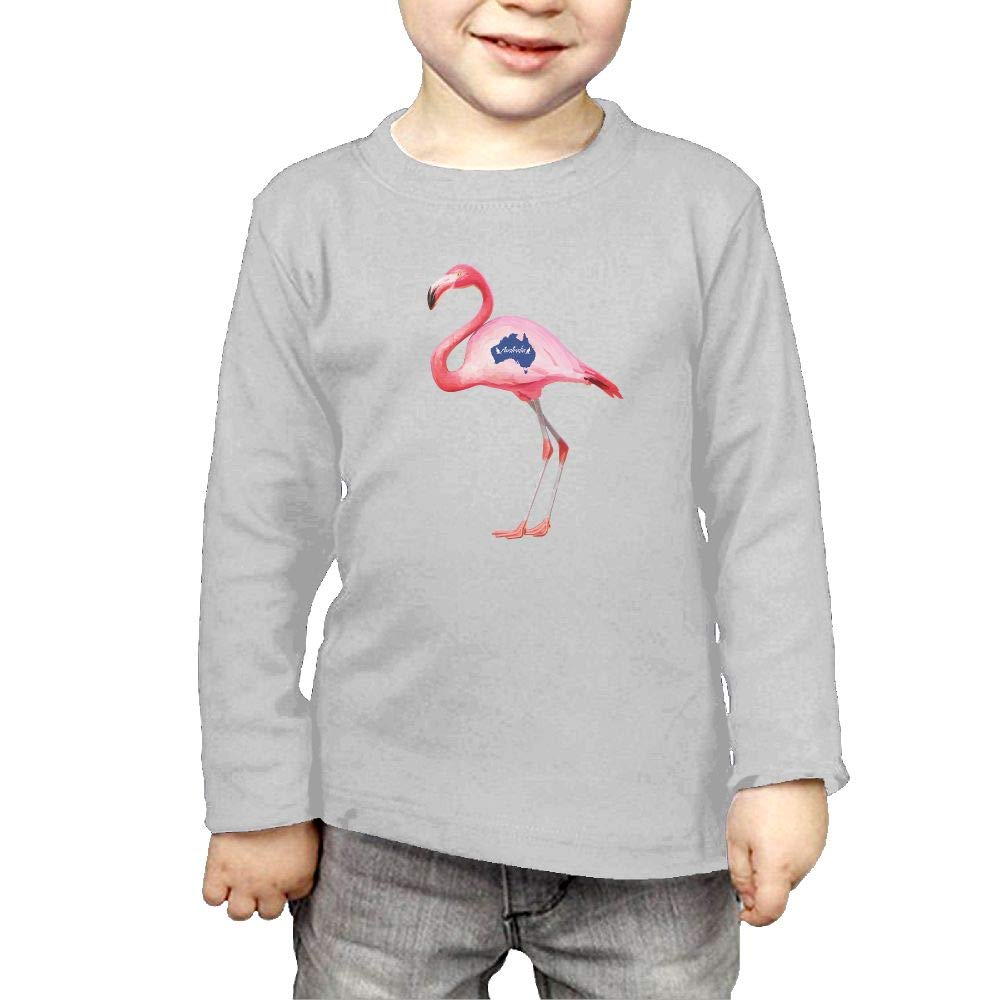 Toddler Childrens Argentina Flamingos Printed Long Sleeve 100/% Cotton Infants T-Shirts