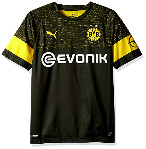 PUMA Men's BVB Away Shirt Replica with EVONIK Logo, F Black, M - Dortmund Borussia Shirt