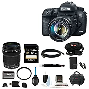 Canon EOS 7D Mark II Digital SLR Camera with 18-135mm IS STM Lens and 64GB Deluxe Accessory Kit