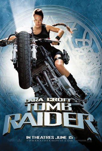 Amazon Com Tomb Raider Lara Croft Movie Poster Regular Bike