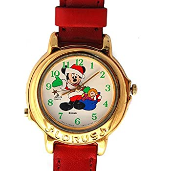 Ladies Rare Out Of Production Musical Lorus Disney Mickey Mouse Holiday Watch RTR038
