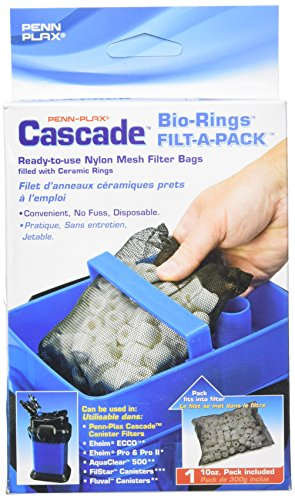 Penn Plax Cascade Nylon Filter with Biological Ceramic Rings (Bio Cascade Sponge)