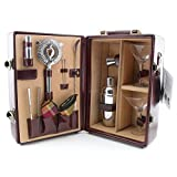 Picnic Time Deluxe Portable Travel Bar Set - Mahogany