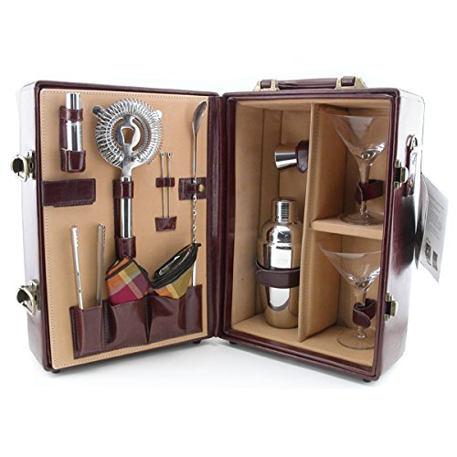 Picnic Time Deluxe Portable Travel Bar Set - Mahogany by PICNIC TIME