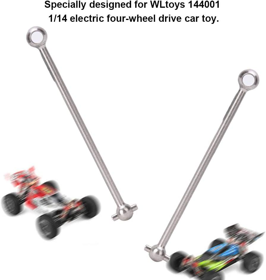 Metal Front//Rear Drive Dogbone Shaft for 1//14 Wltoys 144001 RC Model Car Spare